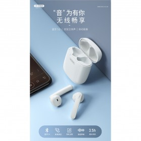 WK TWS Airpods Earphone Bluetooth with Charging Case - V18 - White - 2