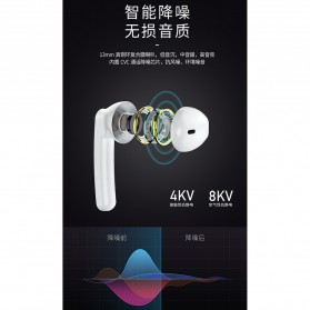 WK TWS Airpods Earphone Bluetooth with Charging Case - V18 - White - 6
