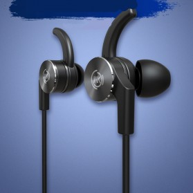 WK Sporty Bluetooth Earphone with Mic - BD150 - Black