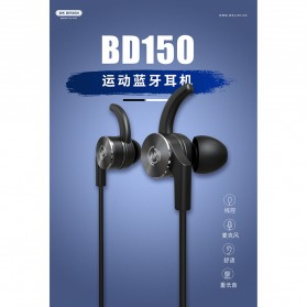 WK Sporty Bluetooth Earphone with Mic - BD150 - Black - 2