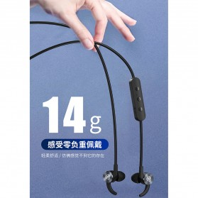 WK Sporty Bluetooth Earphone with Mic - BD150 - Black - 3