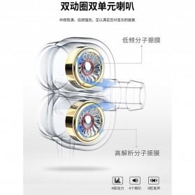 WK Wired Earphone HiFi Dual Driver 3.5mm - Y9 - Black - 8