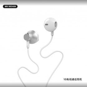 WK HiFi Stereo Earphone Earpods - Y8 - White
