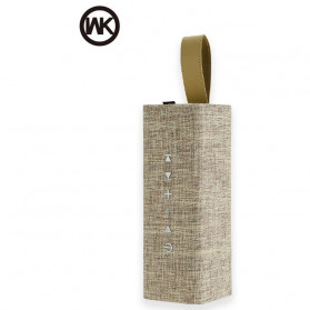 Bluetooth Speaker Aktif Komputer / Laptop - WK Bluetooth Speaker Portable Fabric Design - SP300 - Golden