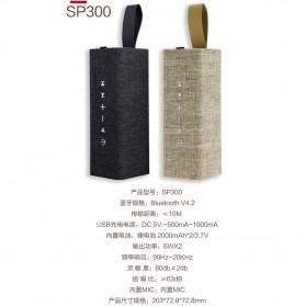 WK Bluetooth Speaker Portable Fabric Design - SP300 - Golden - 6