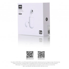WK TWS Airpods Earphone Bluetooth with Charging Case - P8 - White - 10