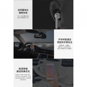 WK TWS Airpods Earphone Bluetooth with Charging Case - P8 - White - 5
