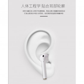 WK TWS Airpods Earphone Bluetooth with Charging Case - P8 - White - 6