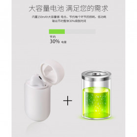 WK TWS Airpods Earphone Bluetooth with Charging Case - P8 - White - 7