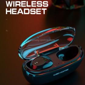 WEKOME Earphone Bluetooth TWS Airpods dengan Charging Case - V25 - Black - 3