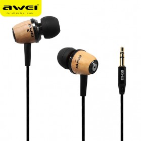 Awei Earphone Wood Design - ES-Q9 - Wooden