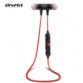 Awei Earphone Bluetooth Sport Stereo dengan Microphone - A920BL - Red