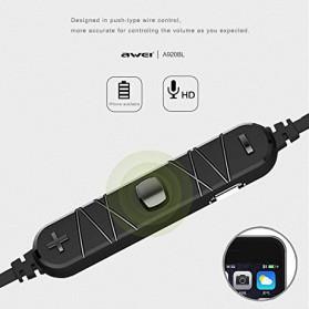 Awei Earphone Bluetooth Sport Stereo dengan Microphone - A920BL - Red - 3