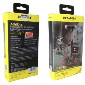 Awei Earphone Bluetooth Sport Stereo dengan Microphone - A920BL - Red - 6