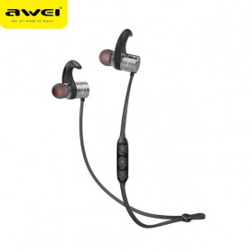 Awei Earphone Bluetooth Sport Magnetic dengan Microphone - AK1 - Gray