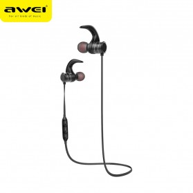 Awei Earphone Bluetooth Sport Magnetic dengan Microphone - AK1 - Gray - 2