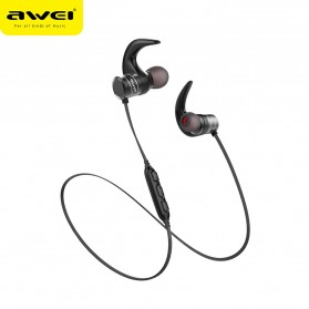 Awei Earphone Bluetooth Sport Magnetic dengan Microphone - AK1 - Gray - 3