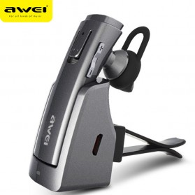 Awei Smart Headset Earphone Bluetooth dengan Car Holder - A833BL - Gray - 1