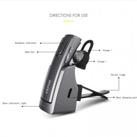 Awei Smart Headset Earphone Bluetooth dengan Car Holder - A833BL - Gray - 3