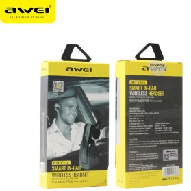 Awei Smart Headset Earphone Bluetooth dengan Car Holder - A833BL - Gray - 8