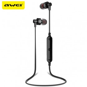 Awei Earphone Bluetooth Sport Stereo dengan Microphone - A990BL - Black