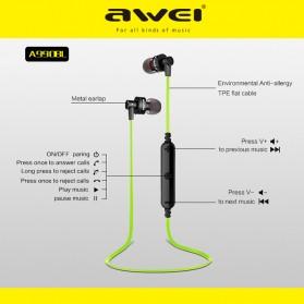 Awei Earphone Bluetooth Sport Stereo dengan Microphone - A990BL - Black - 7
