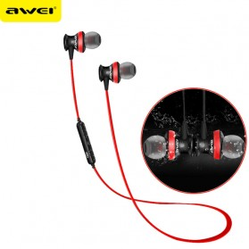 Awei Earphone Bluetooth Sport dengan Microphone - A980BL - Black