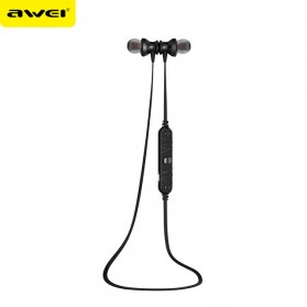 Awei Earphone Bluetooth Sport dengan Microphone - A980BL - Black/Black