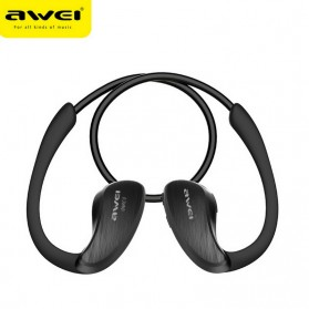 AWEI Bluetooth Earphone Headset dengan NFC - A885BL - Black