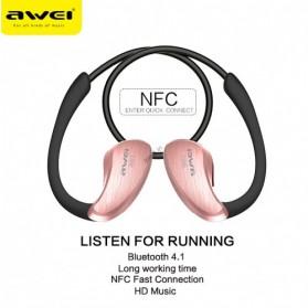 AWEI Bluetooth Earphone Headset dengan NFC - A885BL - Black - 3