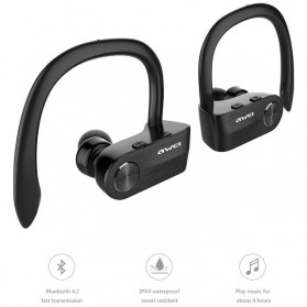 AWEI Wireless Mini Bluetooth Earphone - T2 - Black