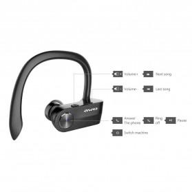 AWEI Wireless Mini Bluetooth Earphone - T2 - Black - 2