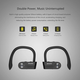 AWEI Wireless Mini Bluetooth Earphone - T2 - Black - 5