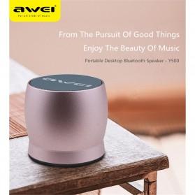 AWEI Mini Bluetooth Speaker - Y500 - Gray - 8