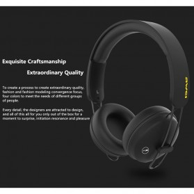 AWEI Bluetooth Wireless Headset Headphone- A800BL - Black - 5