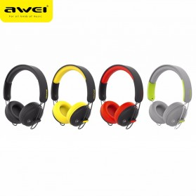 AWEI Bluetooth Wireless Headset Headphone- A800BL - Black - 8