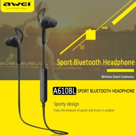 AWEI Bluetooth Earphone Headset - A610BL - Black - 6