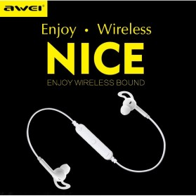 AWEI Bluetooth Earphone Headset - A610BL - Black - 8