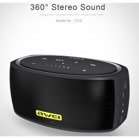 AWEI Portable Bluetooth Speaker dengan NFC - Y210 - Black - 5