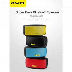AWEI Portable Bluetooth Speaker dengan NFC - Y210 - Black - 7