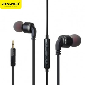 Awei Earphone Noise-Isolating with Mic - ES-30TY - Black