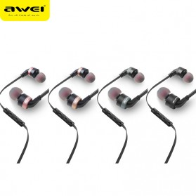 Awei Earphone Noise-Isolating with Mic - ES-30TY - Black - 3