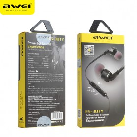 Awei Earphone Noise-Isolating with Mic - ES-30TY - Black - 4