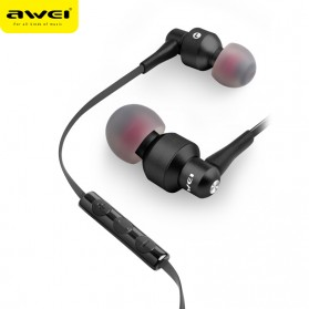 Awei Earphone Noise-Isolating with Mic - ES-50TY - Black - 2