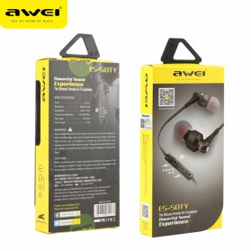 Awei Earphone Noise-Isolating with Mic - ES-50TY - Black - 3