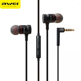 Awei Earphone Noise-Isolating with Mic - ES-70TY - Black