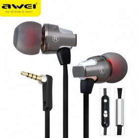 Awei Earphone Noise-Isolating with Mic - ES-860Hi - Black