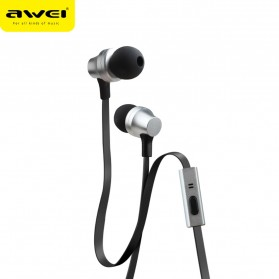 Awei Earphone Ultimate Smart with Mic - ES910i - Black - 2