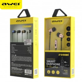 Awei Earphone Ultimate Smart with Mic - ES910i - Black - 4