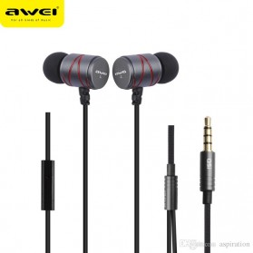 Awei Earphone Ultimate Smart with Mic - Q5i - Black